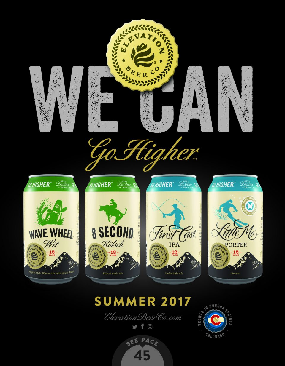 Elevation Beer Company cans