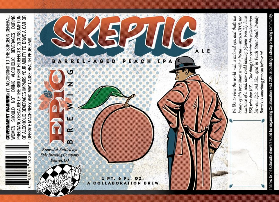 Epic Skeptic Barrel-Aged Peach IPA 2016