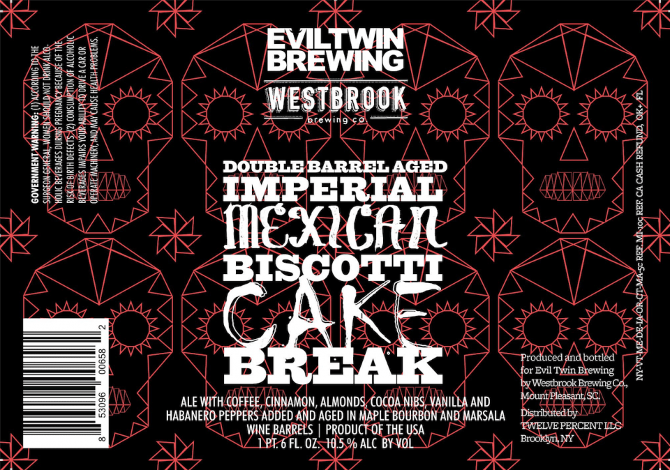 Evil Twin Double Barrel Aged Imperial Mexican Biscotti Cake Break