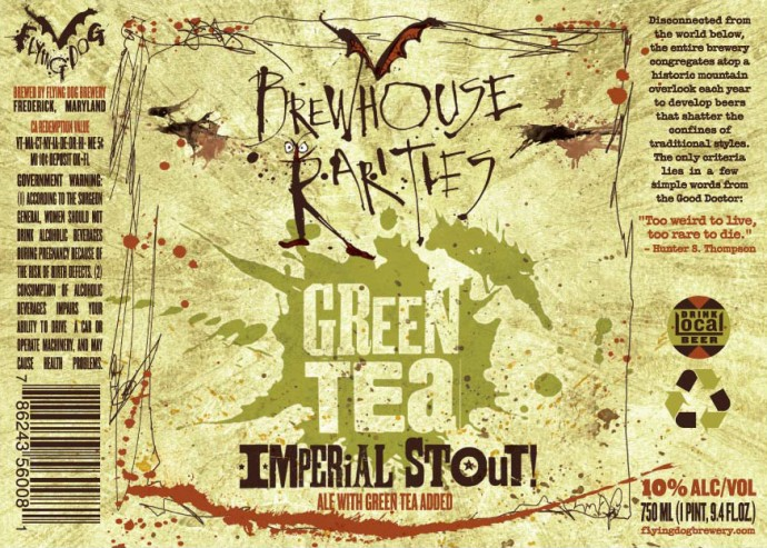 Flying Dog Brewhouse Rarities Green Tea Imperial Stout