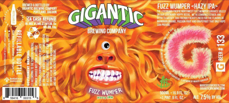 Gigantic Brewing Fuzzy Wumper Hazy IPA