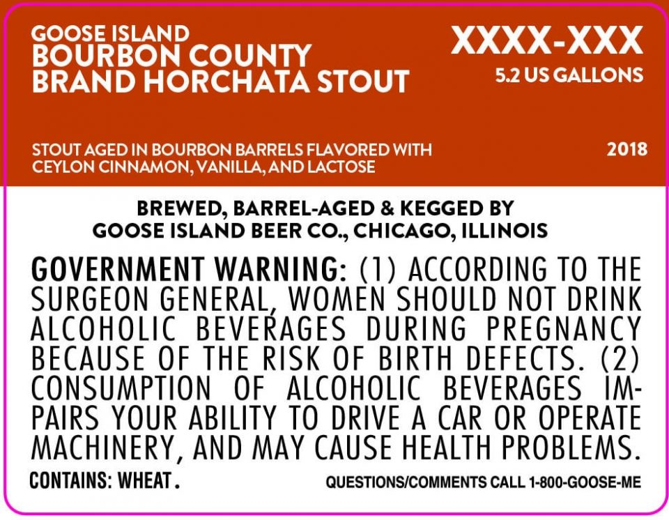 Goose Island Bourbon County Horchata