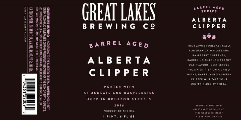Great Lakes Barrel Aged Alberta Clipper