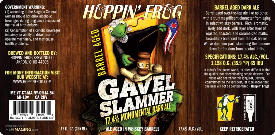 Hoppin Frog Barrel Aged Gavel Slammer