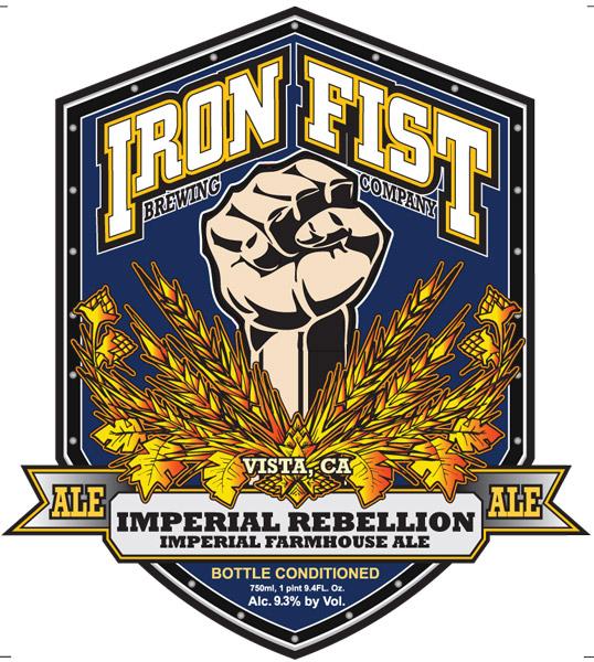 Iron Fist Imperial Rebellion Imperial Farmhouse Ale