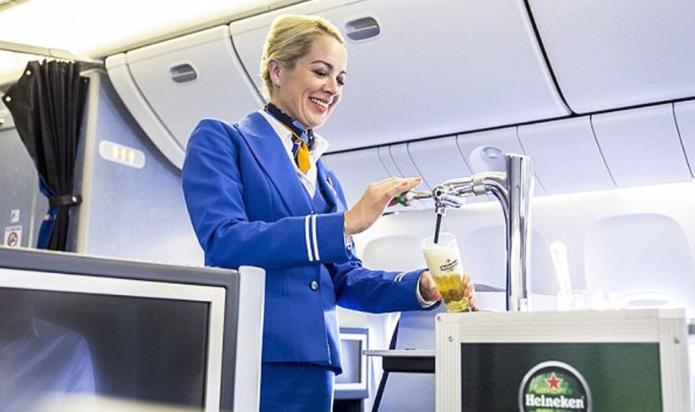 KLM In Flight Beer