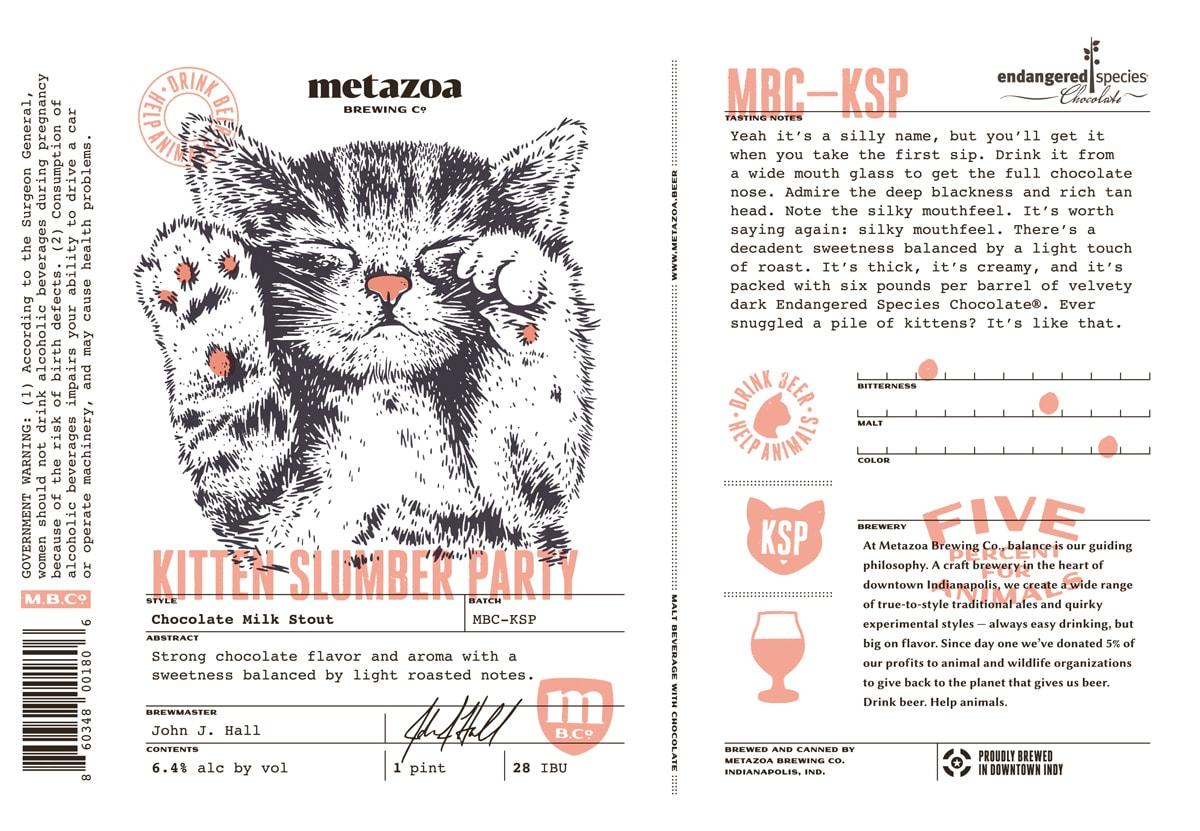 Metazoa Brewign Kitten Slumber Party Beer Street Journal