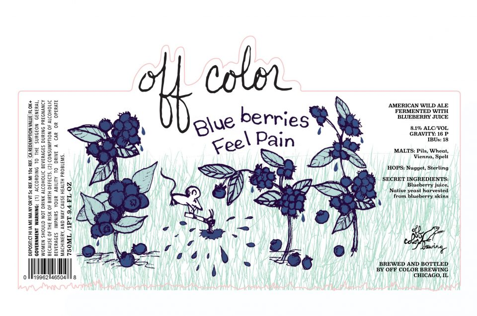 Off Color Blueberries Feel Pain
