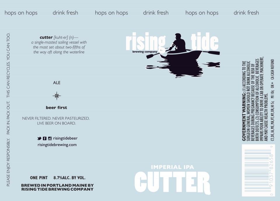 Rising Tide Imperial IPA Cutter