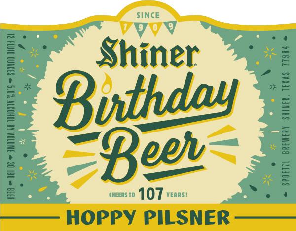 Shiner Birthday Beer Hoppy Pilsner