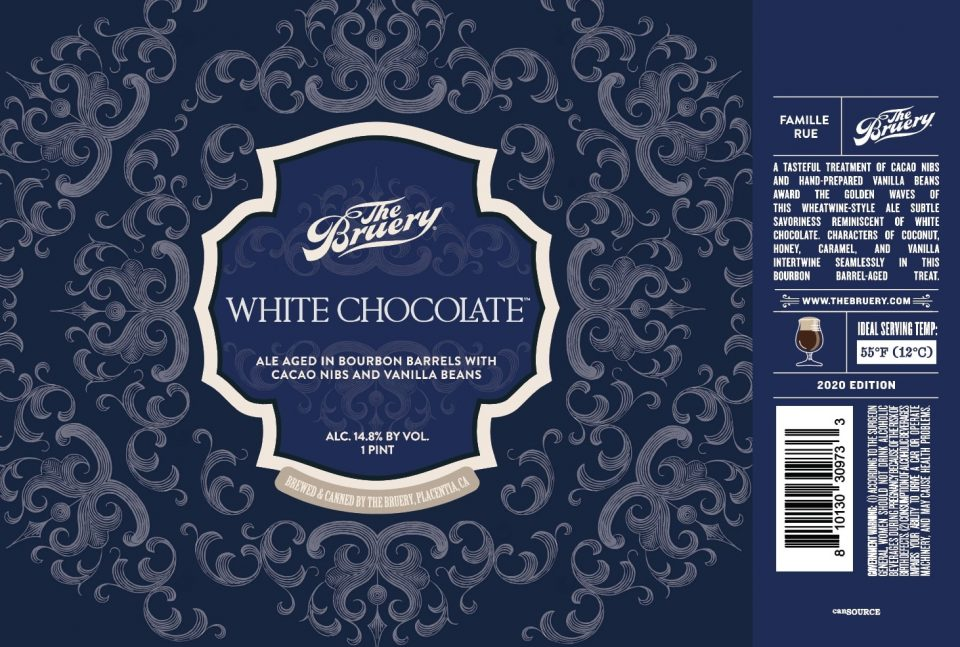 The Bruery White Chocolate Cans