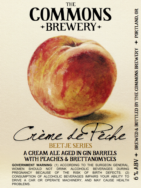 The Commons Brewery Creme de Peche